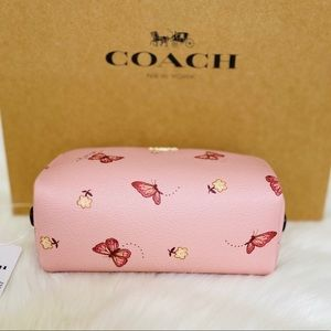 Coach Bags - 💃COACH SMALL BOXY COSMETIC CASE WITH BUTTERFLY